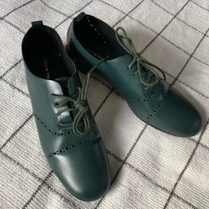 Anthropologie forest green brogues - 41